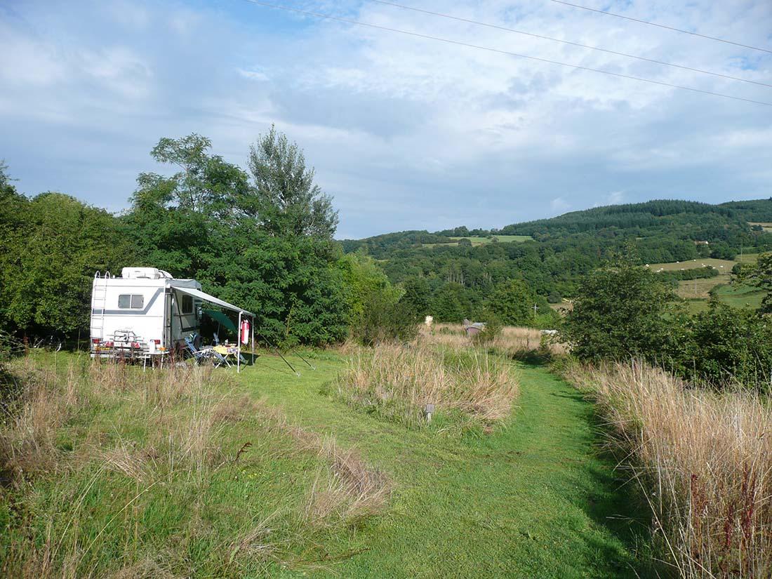 Een tent op een mooie plek op Lotussy.